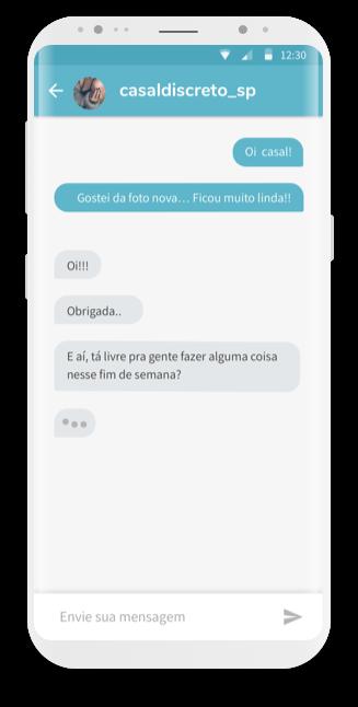 tela app ysos, aba mensagens, com uma conversa em curso