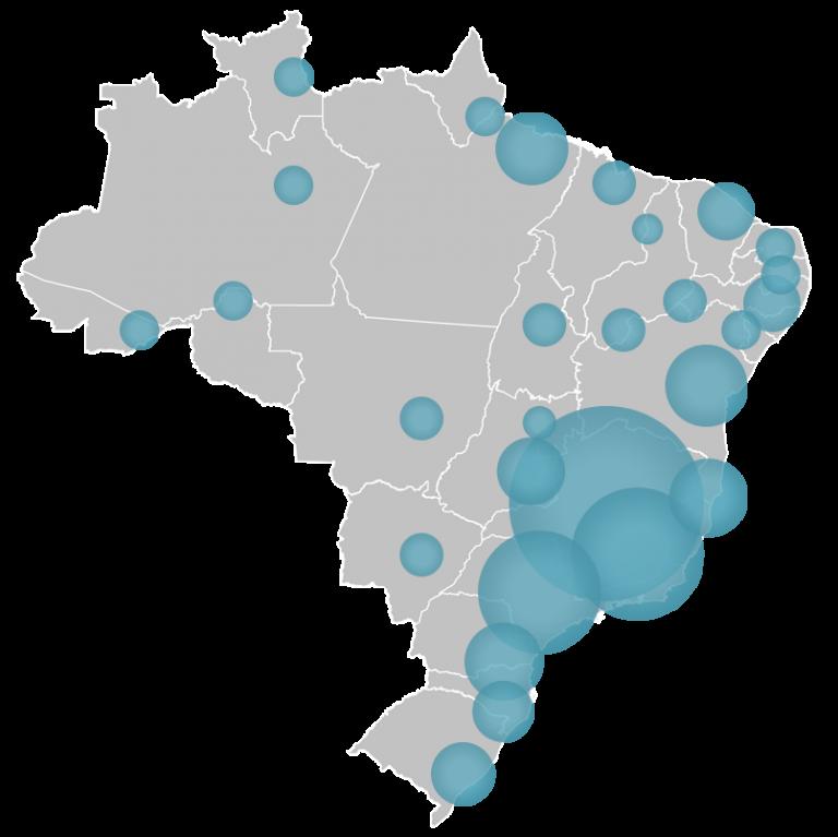 ysos mapa do app de swing em São Paulo